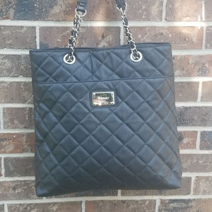 NWOT Nine West Black Quilt Tote